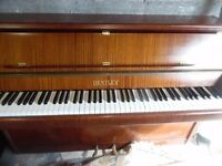 upright piano by bentley-- summer sale price --