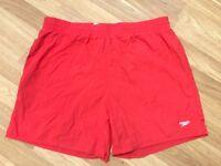 Red men's Speedo shorts size XL