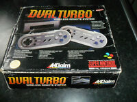 SUPER NINTENDO SNES WIRELESS DUAL TURBO CONTROLLERS ACCLAIM ULTRA RARE £35