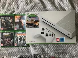 Xbox One S with 5 games inc COD WW2 & Forza