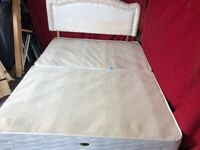 King size divan bed base with 4 draws and headboard Can deliver