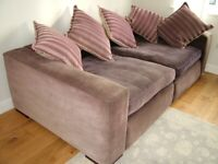 Pair of Very Comfy Sofas with 10 matching cushions. New price!