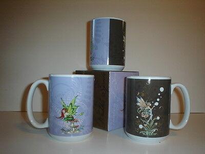 Amy Brown Coffee Mug Bubble Sprite Thinking of You Fairy Faery Dragon Ceramic