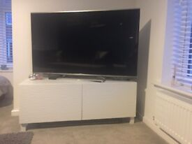 White TV Unit - 8 months old £60