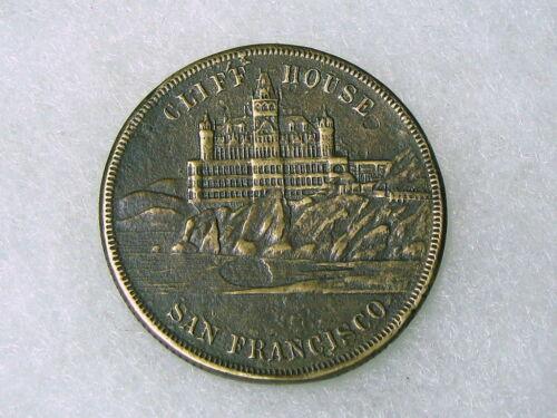 Vtg.RARE~SAN FRANCISCO ~ CLIFF HOUSE TOKEN ~COIN SOUVENIR!~OF EARTHQUAKE & FIRE!