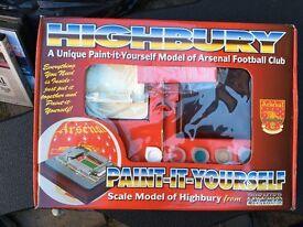 Arsenal Highbury Paint It Yourself Model