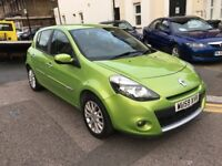 RENAULT CLIO 1.2 DYNAMIQUE TCE 2009 (59) GREEN LOW MILEAGE 2 KEYS 2 LADY OWNERS FULL HISTORY