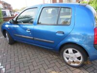 Renault Clio Auto,1389cc,2001,5door,60k, 1 yr MOT,NewTyre,Mint condition,Good runner,Welcome to view