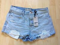 Topshop denim shorts NEW WITH TAGS size 8