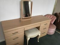 Dressing table and matching bedside cabinets
