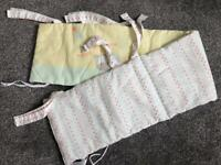 Free Mothercare crib bumper & baby coat hangers