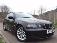 BMW 3 Series 1.8 316ti Compact 3dr 2004 53reg,Hatchback,Full Leather,Manual 1796cc Petrol+1 Year MOT