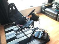 Playseat Challenge Racing Chair Cockpit + Logitech G920 Steering Wheel, Pedals and Shifter