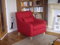 2 DFS brand new red armchairs - accent chairs from Skye range