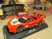 Brand New in Box. Scalextric/GSlot Honda NSX.Works with Scalextric.