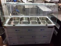 Hot serve over counter bain marie display -IB0151