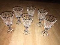 Set Of 6 Lovely Vintage Cut Glass Liquor Liquer Glasses - Derby Area