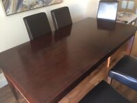 8-10 seater dinning table. Less than two years old and in excellent condition