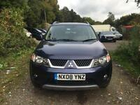 2008 MITSUBISHI OUTLANDER ELEGANCE DI-D BLUE 7 SEATER FULL SERVICE HISTORY