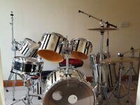 9 Piece SONOR Drum Kit