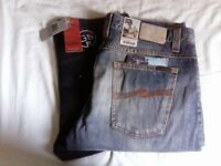 BNWT, Nudie Jeans Straight Alf & Average Joe, G-Star Original, W36/L34. Made in Italy