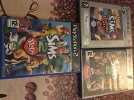 PS2 Sims bundle - 3x games