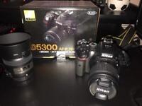 Nikon d5300 kit + macro lense