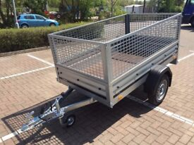 Brand new car box trailer Brenderup 1205s with mesh side