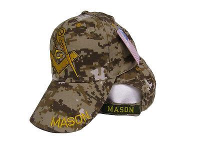 34098f5d9cc8c Mason Masonic Freemason Symbol ACU Camo Camouflage Embroidered Cap Hat (RUF)