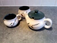 Selection of 32 pieces of Denby 1960s Greenwheat signed by A Collage