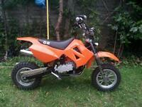 50cc Pitbike bigger than mini or midi