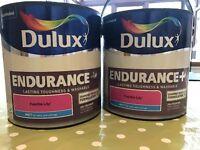Two Brand new Dulux Matt pink Fuschia Lilly paint