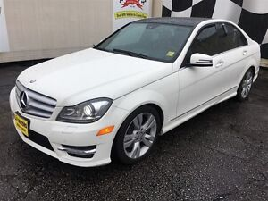 2012 Mercedes-Benz C-Class 300, Navigation, Leather, AWD, Only 4