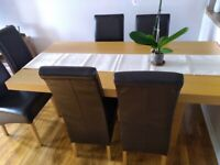 DINNING TABLE 6 CHAIRS SOLID GOOD CONDITION