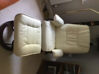 Massage Chair Armchair Swivel Recliner Faux Leather