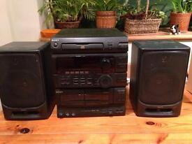 Sony sound system + Sanyo speakers