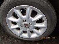 Rover 45 Set of 4 Alloys and Tyres 195/55 15 Good Tyres all round.