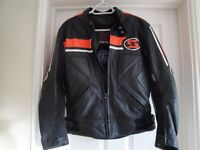 Leather Swift Innovation Motorcycle Jacket - Size M