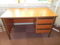 Matching 3 drawer desk and 2 tables. All measure 610mm x 1220mm standing 725mm high