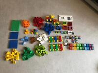 Lego Duplo set- over 200 pieces including police station and train set