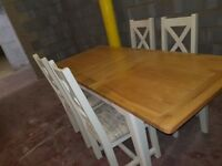 Bordeaux Large Extending Dining Table + 4 chairs **ABSOLUTE BARGAIN**