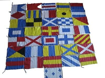 MARITIME Signal Code FLAG Set - 100% COTTON - Set of Total 36 flags