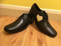 Work School Casual Black Leather Brand New Kickers Mens FEROCK LACE Shoes Size 9
