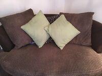 Bargain corner sofa , stool and cuddle chair