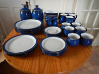 Denby Dining Set in Classic Imperial Blue