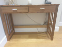 Wooden console table with drawers **Reduced for quick sale**