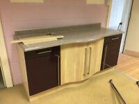 Ex Display- Duleel Aubergine gloss Kitchen