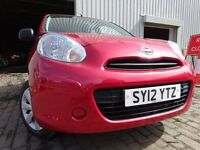012 NISSAN MICRA VISIA 1.2 ,MOT AUG 017,2 OWNERS FROM NEW,FULL HISTORY,2 KEYS,VERY LOW MILEAGE CAR