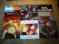 Small collection (9) of LP vinyl records. Mostly 1980s