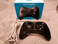 Wii U Pro Controller with box and cable - Rare